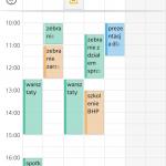 Kalendarze Exchange wyświetlone w trybie nakładki w telefonie
