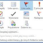 Filtrowanie zadań w programie Outlook