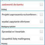 Synchronizacja zadań poczty Exchange w telefonie