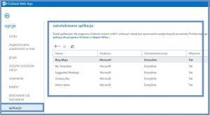 Aplikacje dla programu Outlook 2013