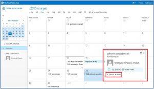 Szybki podgląd szczegółów wpisu w kalendarzu OWA 2013