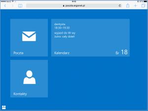 Nawigacja w OWA 2013 na iPadzie