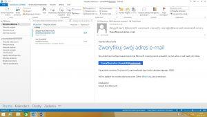 Domyślny widok folderów w programie MS Outlook 2013