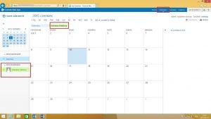 Folder publiczny typu kalendarz w OWA 2015