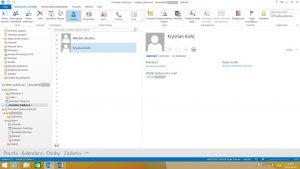 Folder publiczny typu Kontakty w programie MS Outlook 2013