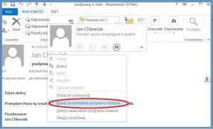 Szyfrowanie - Dodawanie kontaktu do kontaktów programu Outlook