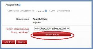 Szyfrowanie - Generowanie pary kluczy za pośrednictwem przeglądarki internetowej