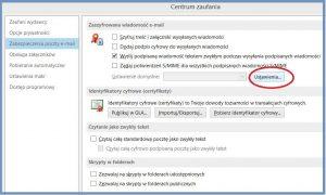 Szyfrowanie - Konfiguracja ustawień domyślnych szyfrowania wiadomości e-mail