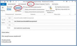Szyfrowanie - Szyfrowanie wiadomości wysyłanej do dodanego wcześniej kontaktu