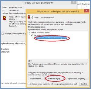 Szyfrowanie - Właściwości zabezpieczeń wiadomości