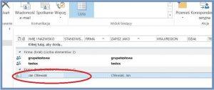 Szyfrowanie - Otwieranie kontaktu w Outlooku