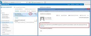 Szyfrowanie - Informacja o podpisie cyfrowym nadawcy po stronie odbiorcy