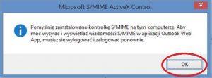 Szyfrowanie - Instalacja kontrolki S MIME na komputerze
