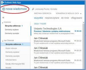 Szyfrowanie - Nowa wiadomość utworzona w OWA