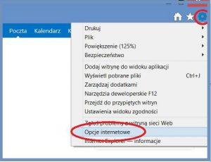 Szyfrowanie - Opcje internetowe IE