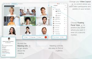 Kontrolki sterujące ustawieniami spotkania online Webex